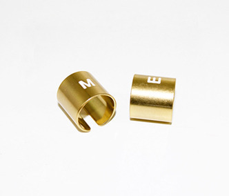 M.E Gold Initial Pipe Ring