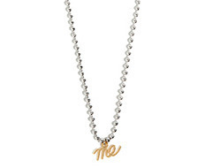 Usual Me Pendant Silver Ball Chain Necklace