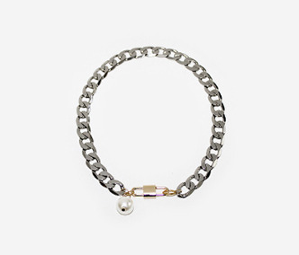 [Monday Edition] Big Pearl and Chain Short Necklace (50%off)