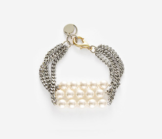 Three Lines Pearl Bracelet