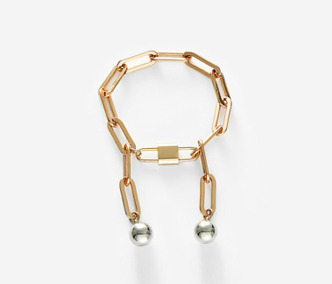 [Monday Edition] Drop and Rose Gold Chain Bracelet (50%off)