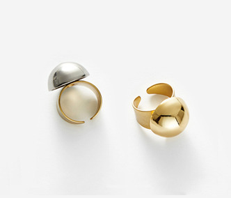 Bold Drop Ring - GOLD, SILVER 30% SALE