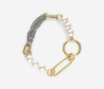 [Monday Edition] Big Shape Bold Chain and Pearl Necklace (50%off)