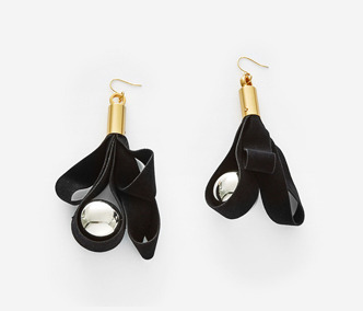 Bold Drop Velvet Earrings
