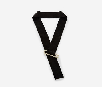U Pin Suede Necklace