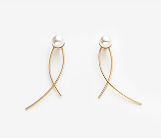 Big Pearl Wire Earrings 먼데이에디션