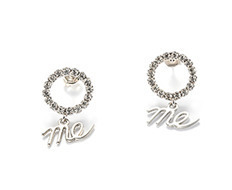 Circle Cubic Drop Me Earrings
