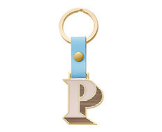 Stickery Initial Key Ring P
