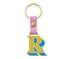 Stickery Initial Key Ring R