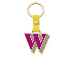 Stickery Initial Key Ring W