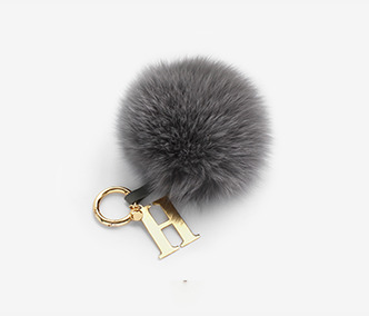 Pompom Initial Key Ring (Big)