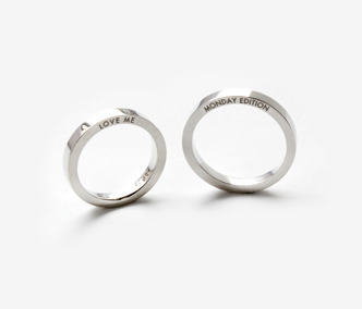 Love Me Silver Ring For Couple x2 10% Off