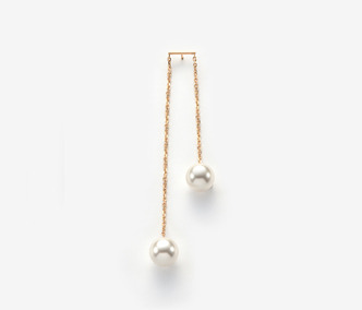 [Monday Edition] Two Pearls Single Earring (20%off)