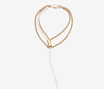 [Monday Edition] Dropped Pearl Chain Necklace (20%off)