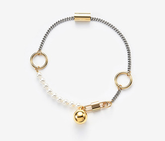 [Monday Edition] Chain And Ring Choker PEARL (20%off)