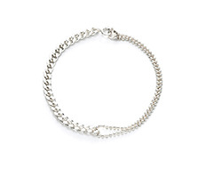 usual silver ball and chain bracelet