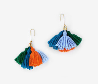 Wool Tassel Earrings