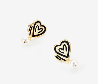 [ME x Chocomoo] heart of teddy & pearl earrings