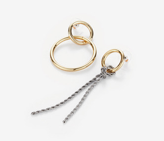 [Monday Edition] Chain Knot and Circle Earrings (20%off)