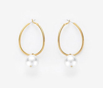 [Monday Edition] Big Pearl Wave Earrings (20%off)
