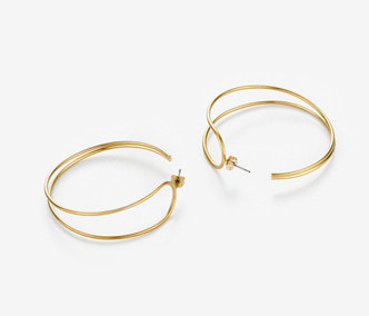 [Monday Edition] Folded Wire Circle Earring