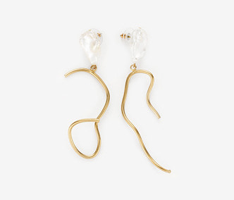 [Monday Edition] Ugly Pearl Wavy Earring (20%off)