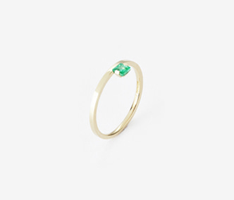 Birthstone Ring Emerald - May