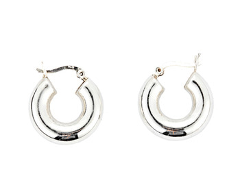 [usual ME] silver hoop earrings 3