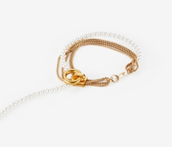 Pearl & Chain Zipper Bracelet