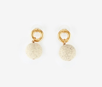 [Monday Edition] Ceramic Ball & Small Circle Earrings (20%off)