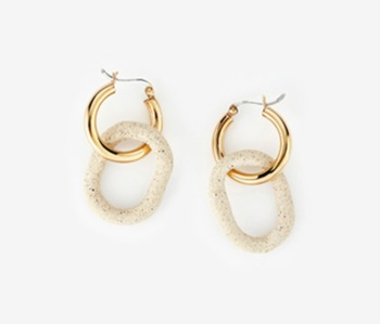 [Monday Edition] Dropped Circle Ceramic Earrings (20%off)