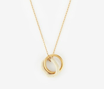 [Monday Edition] Ceramic & Circle Pendant Necklace (20%off)