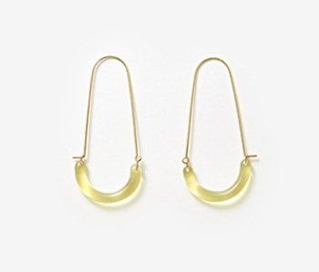 [Monday Edition] U Shape Glass Earrings (10%off)