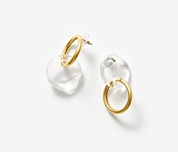 [Monday Edition] Semicircle and Ring Earrings (10%off)
