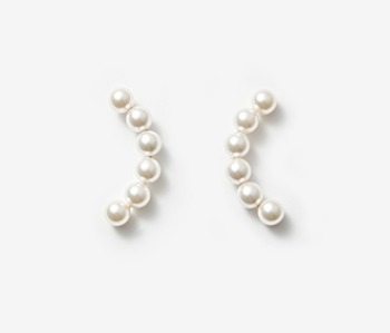 [Monday Edition] Arc Shape Pearl Earrings