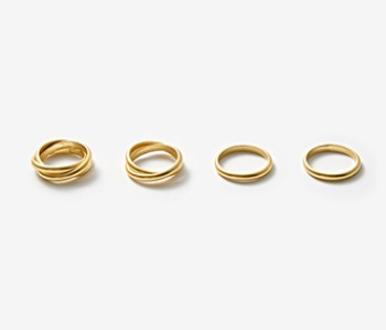 [Monday Edition] Simple Mobius Ring Set (10%off)