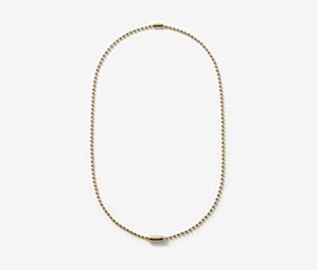 [MEdMAN] golden simple ball chain necklace