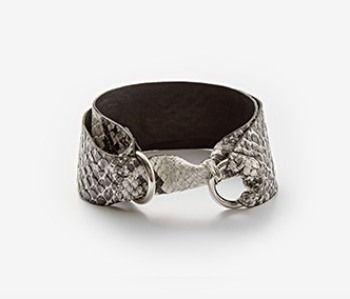Basilisk Skin Ring Lock Choker (10% off)