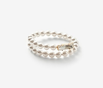 Pearl & Pointed Crystal Bangle (15%off)