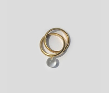Glass Ball Mobius Ring  (10%off)
