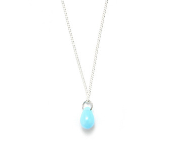[usual ME] bohemian glass necklace_sky blue (15%off)