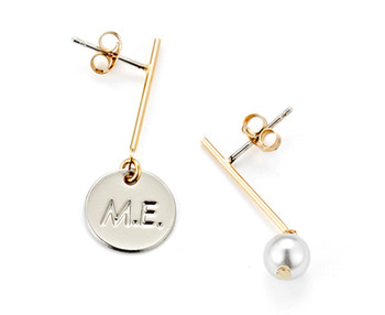 [usual ME] drop M.E & pearl earrings (15%off)