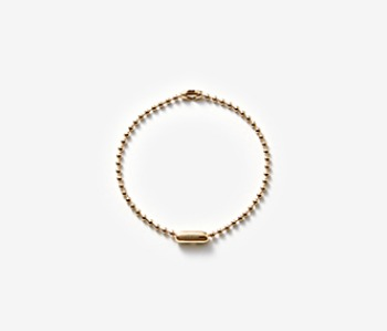 [MEdMAN] golden simple ball chain bracelet