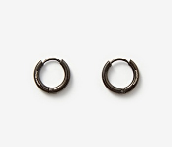 [MEdMAN] simple circle piercings - black