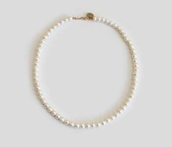 The Basic Pearl Necklace  6mm